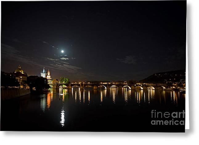 Carls Bridge Prague Greeting Card