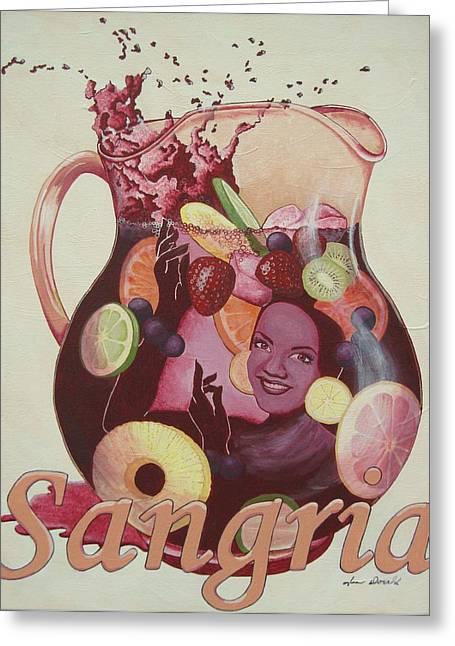 Carmen Miranda Sangria Greeting Card by Jennifer  Donald