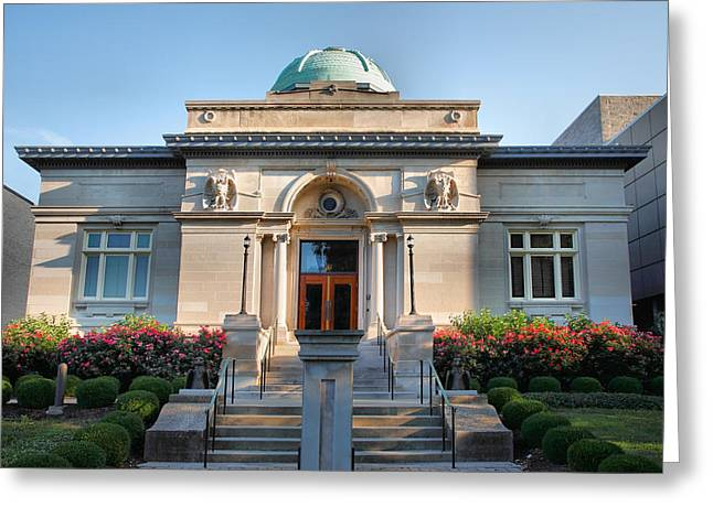 Carnegie Library Greeting Card by Steven Ainsworth