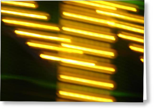 Carnival Blur Greeting Card by Michelle Calkins