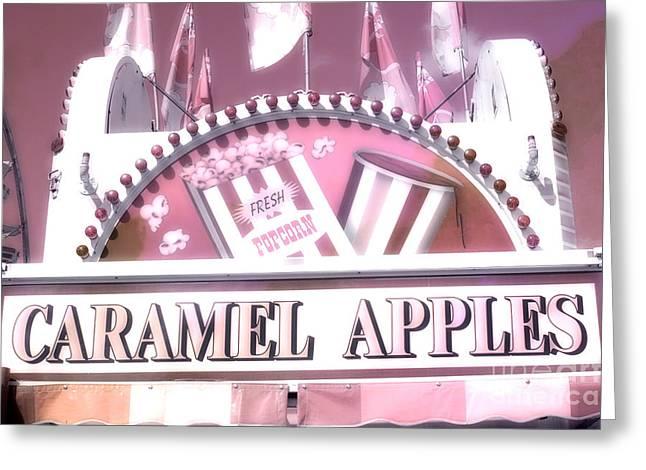Carnival Festival Fun Fair Caramel Apples Stand Greeting Card