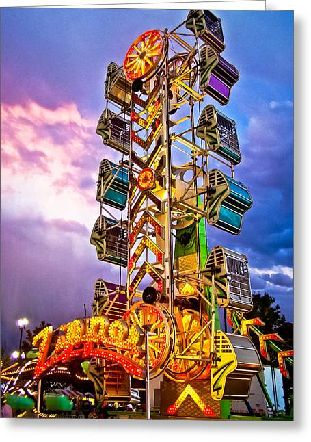 Carnival Fun Greeting Card by Catherine Utschig