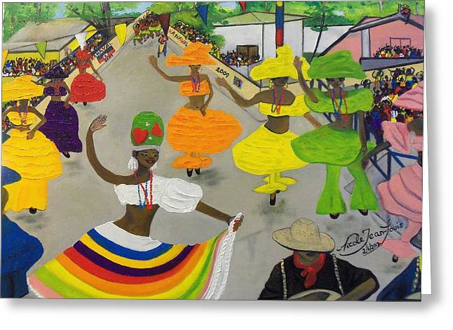 Carnival In Port-au-prince Haiti Greeting Card