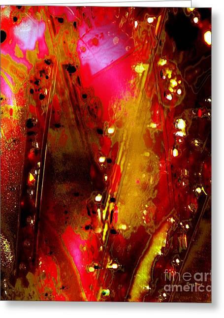 Carnival Lights Greeting Card by Doris Wood
