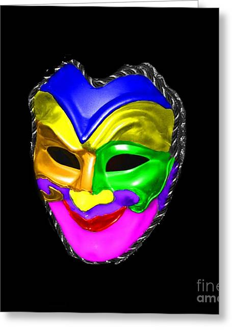 Greeting Card featuring the photograph Carnival Mask by Blair Stuart