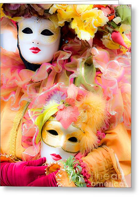 Greeting Card featuring the photograph Carnival Mask by Luciano Mortula