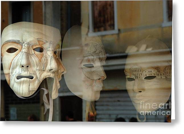 Carnival Masks Greeting Card by Bob Christopher