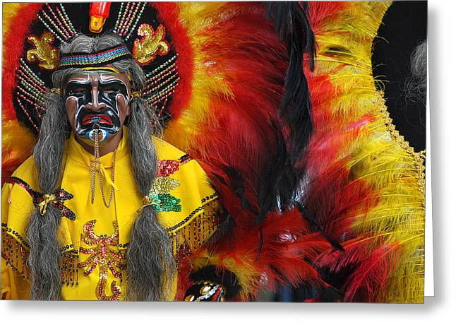 Carnival Of Oruro. Dance Of The Toba. Republic Of Bolivia. Greeting Card
