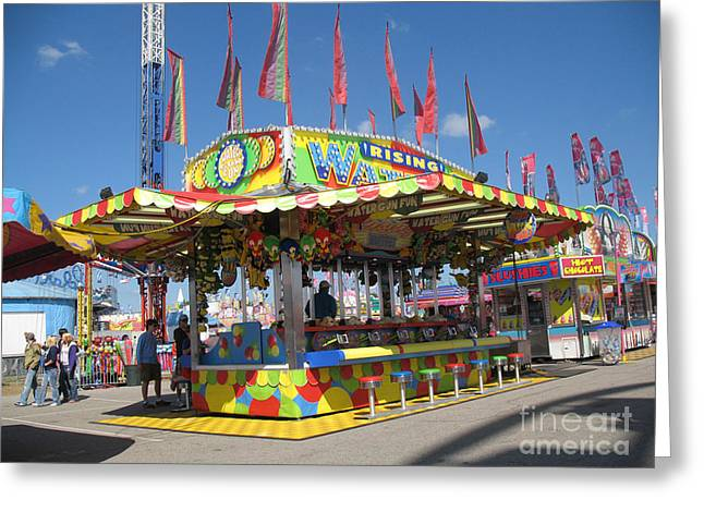 Carnivals Fairs And Festival Art  Greeting Card