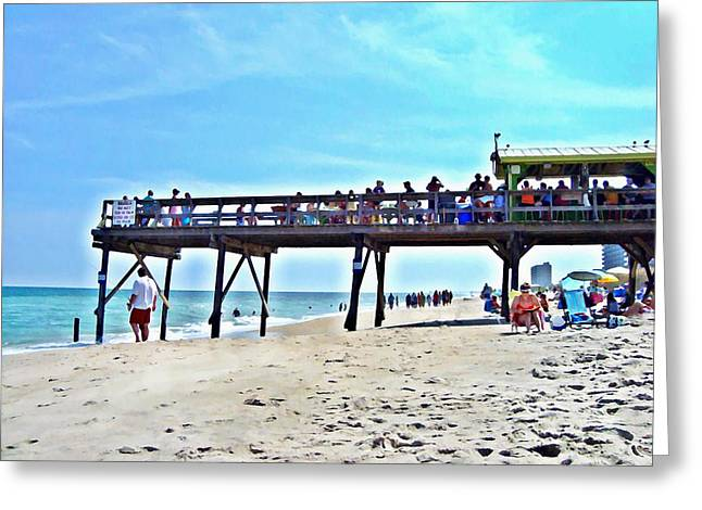 Carolina Beach Tiki Bar Greeting Card