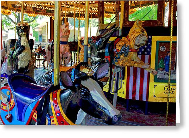 Carousel Fun Greeting Card by Bob Whitt