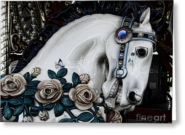 Carousel Horse - 8 Greeting Card by Paul Ward