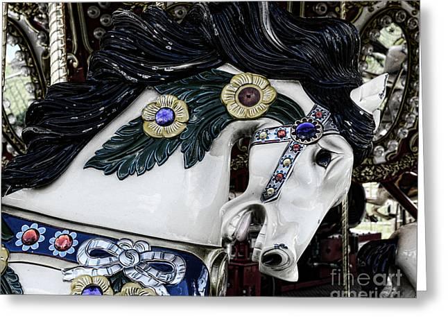 Carousel Horse - 9 Greeting Card by Paul Ward