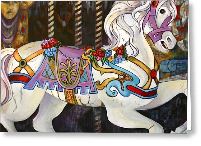 Carousel Horse Hull Massachusetts Greeting Card