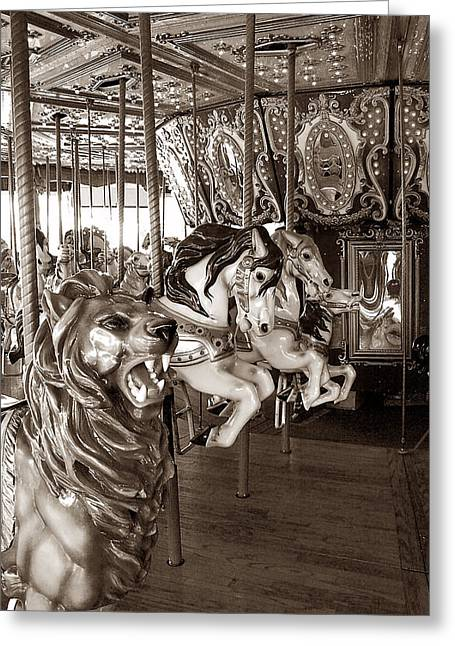 Greeting Card featuring the photograph Carousel by Raymond Earley