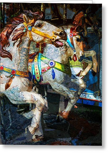 Carousel Thoroughbreds Greeting Card