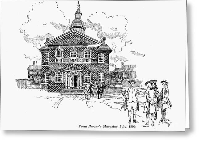 Carpenters Hall Greeting Card by Granger