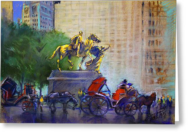 Carriage Rides In Nyc Greeting Card