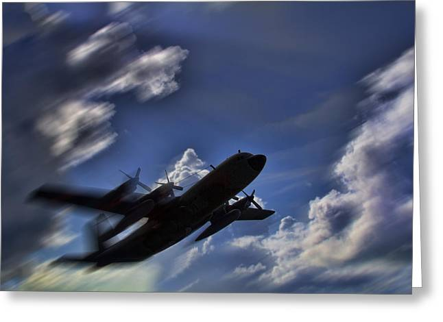 Carrying A Heavy Load Greeting Card by Douglas Barnard