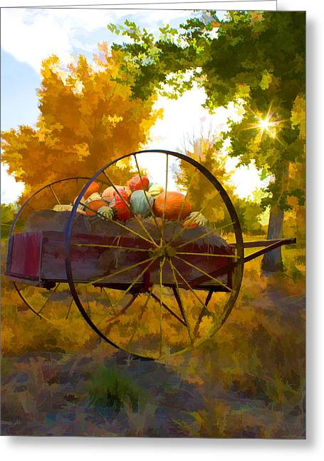 Cart Of Plenty Greeting Card