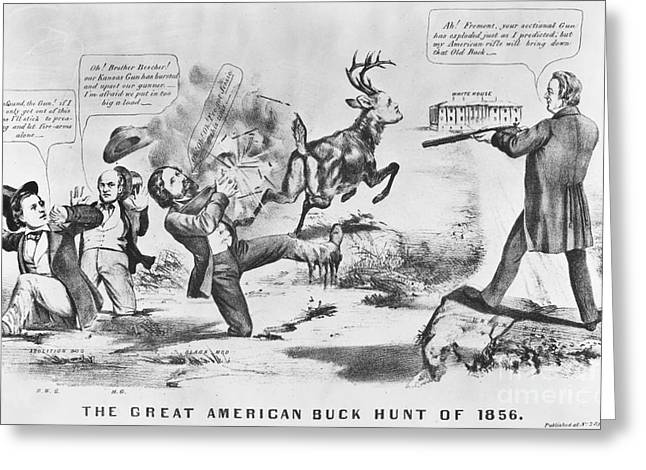 Cartoon: Election Of 1856 Greeting Card