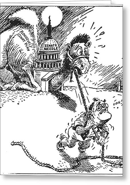 Cartoon: New Deal, 1937 Greeting Card