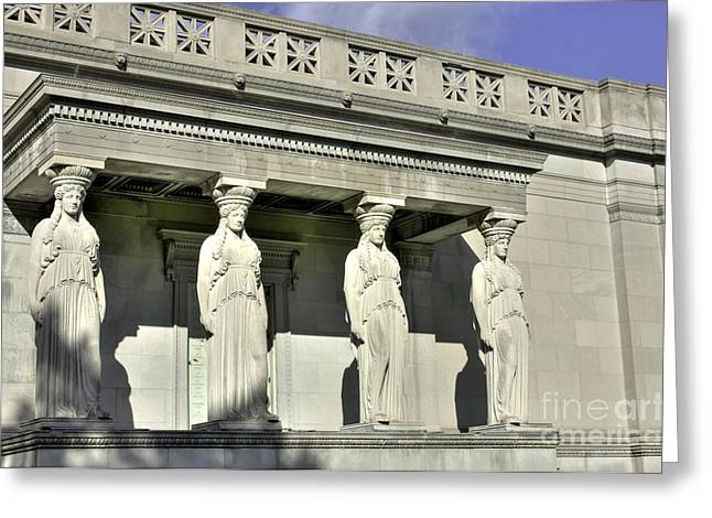 Caryatids At The Museum Greeting Card