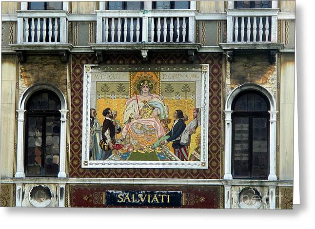 Casa Salviati -  Palace Of The Murano Glassblowers Greeting Card by Gregory Dyer
