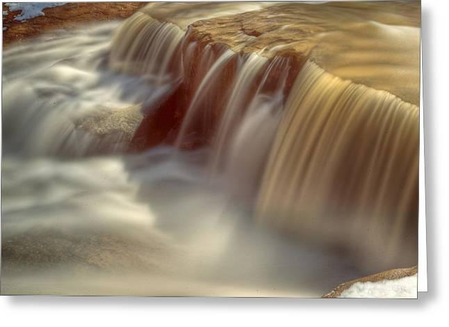 Cascade At Blue Hen Falls Greeting Card by Jennifer Grover