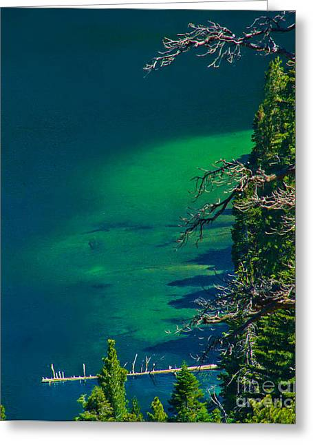 Cascade Lake Inlet Delta Greeting Card