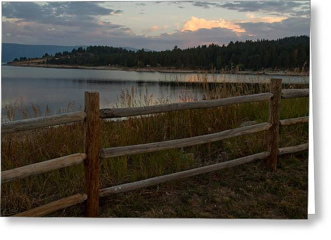 Cascade Lake Sunrise Greeting Card by Larry Fry