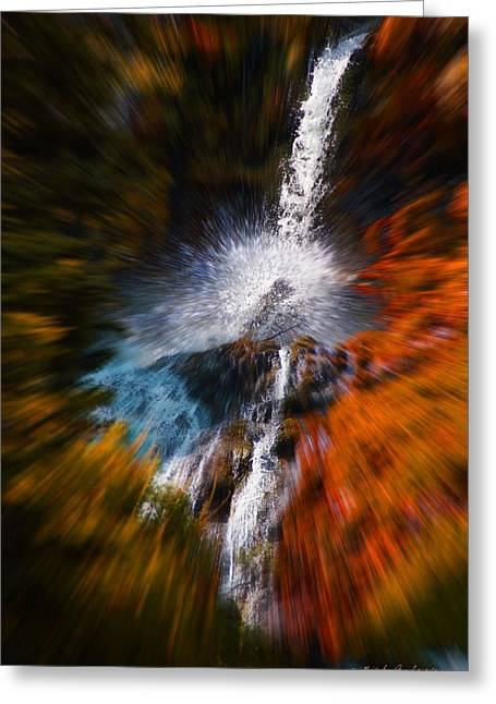 Cascade Waterfall Greeting Card by Mick Anderson