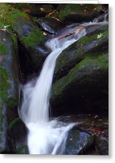 Cascading Angel Hair Greeting Card by Michael Carrothers