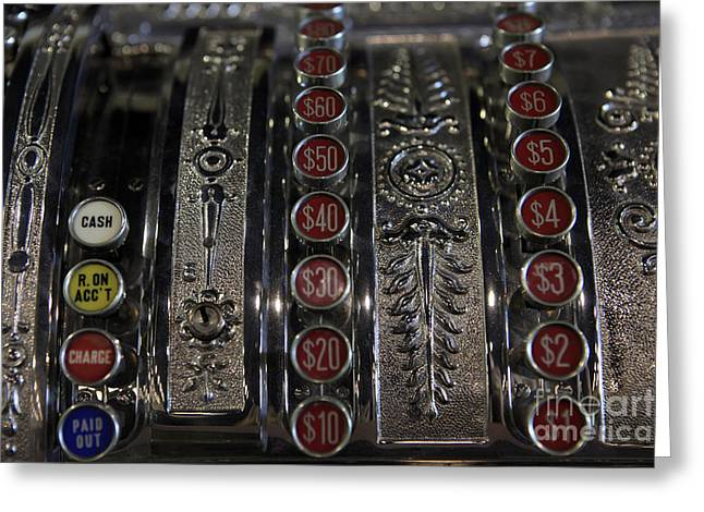 Greeting Card featuring the photograph Cash Register by Nina Prommer