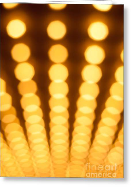 Casino Lights Out Of Focus Greeting Card by Paul Velgos
