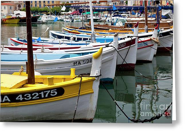 Cassis Boats Greeting Card by Brian Jannsen