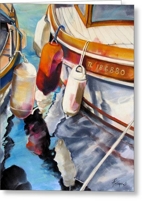 Greeting Card featuring the painting Cassis Castaways by Rae Andrews