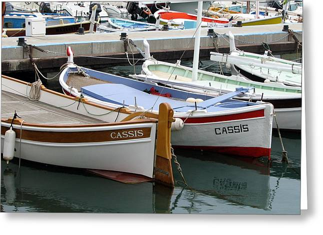 Greeting Card featuring the photograph Cassis Harbor by Carla Parris