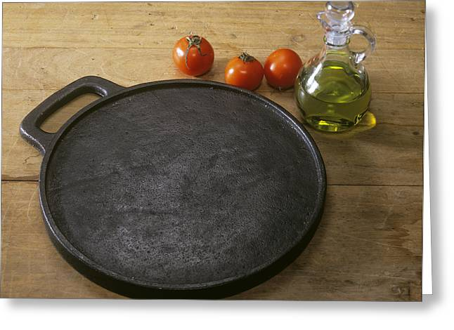 Cast Iron Skillet Greeting Card by Sheila Terry