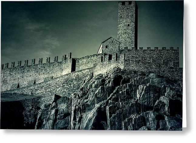 Castelgrande Bellinzona Greeting Card by Joana Kruse
