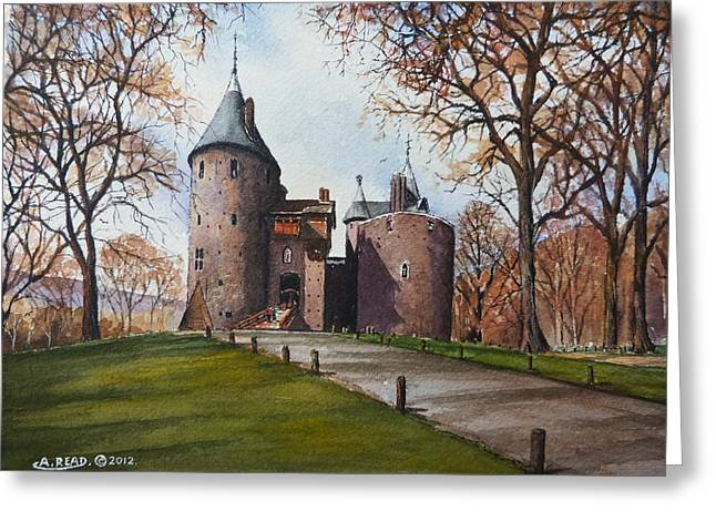 Castell Coch Greeting Card by Andrew Read