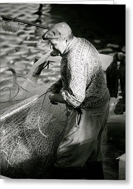 Casting The Net Greeting Card by Jez C Self