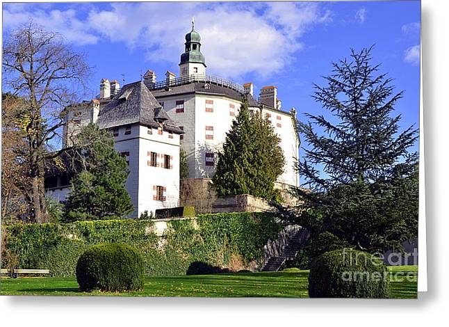 Castle Ambras In Innsbruck Greeting Card