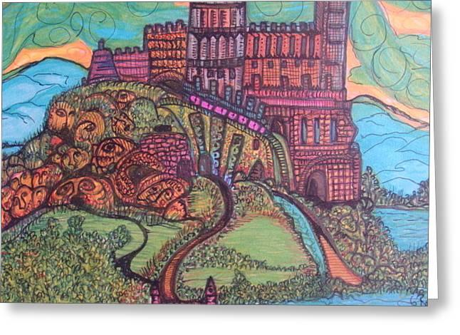 Castle Fantasy  Greeting Card by Gerri Rowan