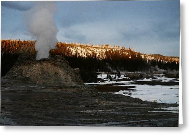 Castle Geyser Yellowstone National Park Greeting Card