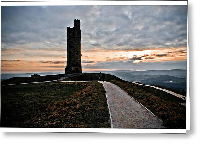 Castle Hill Greeting Card by Mark Britten