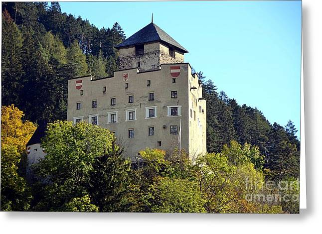 Castle Landeck In Austria Greeting Card