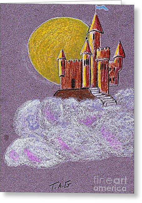Castle Moon Greeting Card
