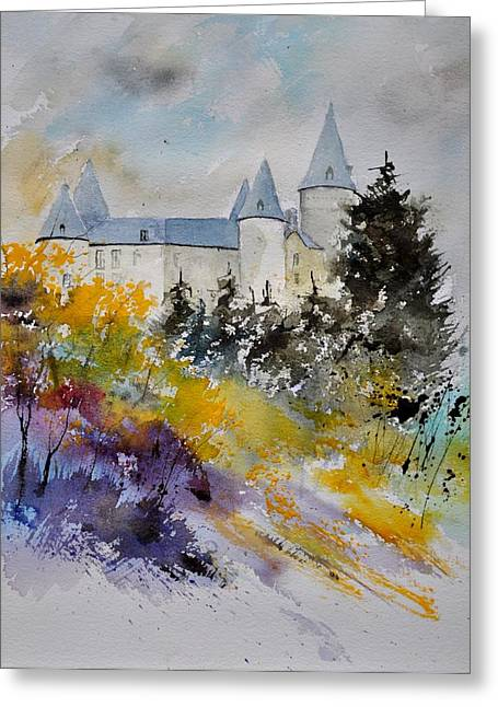 Castle Of Veves Belgium Greeting Card by Pol Ledent