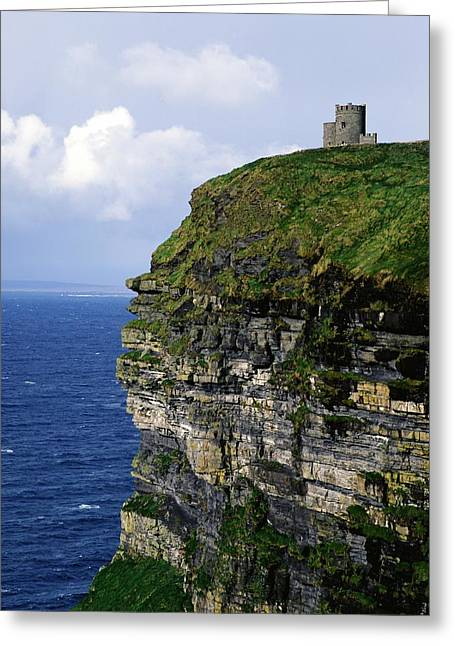 Castle On A Cliff, Obriens Tower Greeting Card